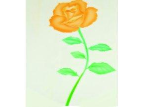 13460 stencil dekoracni ruze otevrena 7 krokova