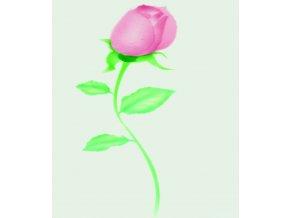 13463 stencil dekoracni ruze poupe male 6ti krokova