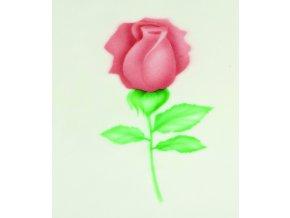 13466 stencil dekoracni ruze poupe velke 6ti krokova