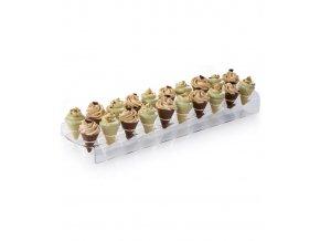 17375 stojan na cokoladove kornoutky plexi 20 otvoru 10x38 v 2 5cm