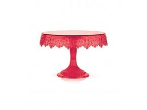 17411 stojan na dorty plast cerveny prum 23 v 15cm