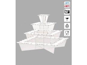 17501 stojan na zakusky plast 4 patra 40x40 v 33 cm