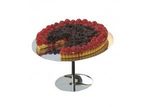 17504 stojanek na dort nerez prum 25 5cm v 10cm