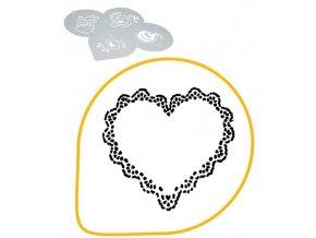 13286 sablona na dekoraci srdce ozdobny lem prum 26cm plast