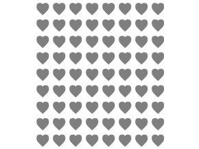 13340 sablona na dekoraci platu srdce 30x20cm plast