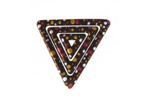 16694 transfer forma trojuhelnik dekor stribrny cerveny zlaty 1 folie 48 tvaru