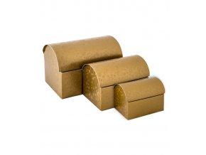 6437 truhla s vikem papir 130x90 v 95mm zlata s kruhy 1 ks krabicka