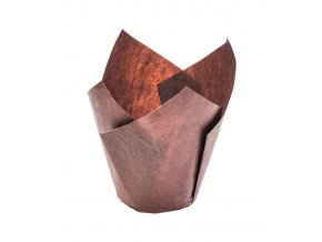 5792 tulipan papirovy na muffiny prum 50mm hnedy 180 ks bal