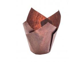 5795 tulipan papirovy na muffiny prum 50mm hnedy 1800 ks kart