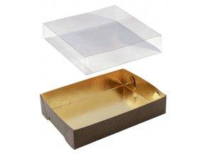 6485 vanicka obal plast 225x175 v 40mm kuze zlato hneda 10 ks bal