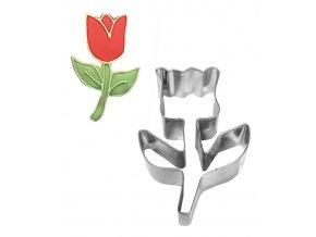 12392 vykrajovatko nerez tulipan 5 5x8 4cm v 3cm