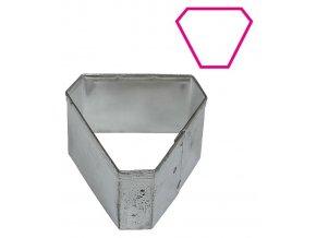 9557 vykrajovatko nerez minidezert trojuhelnik zkoseny 5x4 4 v 2 5cm