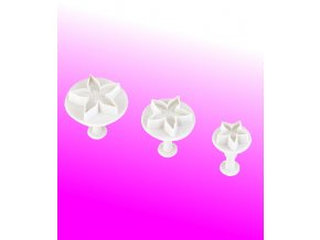 13103 vytlacovac vykrajovatko plast sada 3ks kvet prum 3 5cm v 5cm