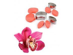 13139 zilkovace vykrajovatka sada 9ks okvetni listky orchidej 6x6 5x3 5 5x2 7 v 2cm