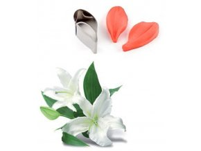 13184 zilkovace vykrajovatko sada 3ks okvetni listek lilie mala 2 5x5 3 v 2cm