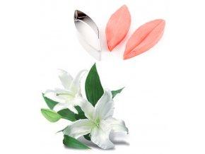 13187 zilkovace vykrajovatko sada 3ks okvetni listek lilie velka 10x3 5 v 2cm