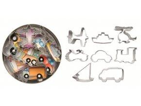 Vykrajovátka dopravní prostředky – 8ks - Ibili