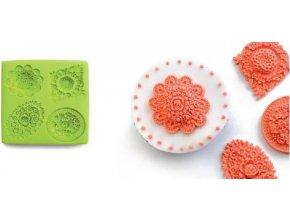 3D forma na pečení, dorty, čokoládu, fondant - květiny - Ibili