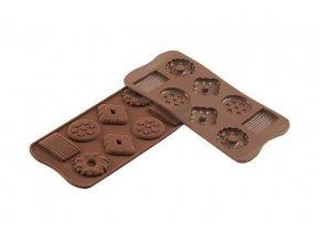 Silikonová forma na čokoládu – sušenky - Silikomart