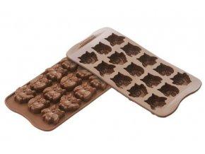 Silikomart forma na čokoládu Choco Gufi (Sovy)