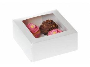 Papírový box bílý na cupcake 2ks - House of Marie
