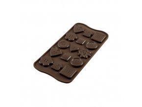 Silikonová forma na čokoládu – knoflíčky