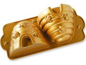 NW Forma na včelí úl 3D zlatá 54577 Nordic Ware