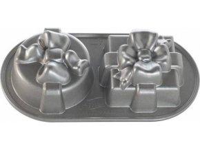 NW Dárek plát se 2 formičkami 5cup stříbrný 84848 Nordic Ware