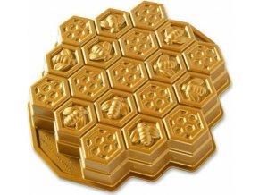 NW Forma včelí plástev zlatá 85477 Nordic Ware