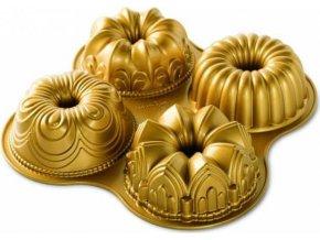 NW Čtveřice mini bábovek 4ks zlatá 91377 Nordic Ware
