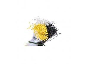 Perleťové pestíky - bílá, žlutá, černá - Decora