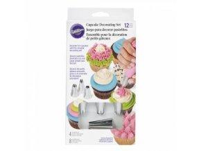 12 dílný zdobící set na cupcakes - Wilton