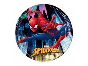 Papírové talířky Spiderman Team Up 20 cm - 8 ks