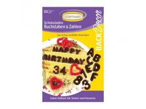 Čokoládová ABECEDA - písmena a čísla 84 ks