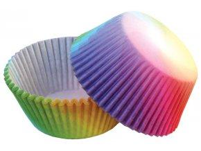 50 ks košíčků na muffiny a cupcakes | RAINBOW