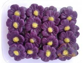 Jedlé květy z modelovací hmoty: FIALKY VELKÉ 40ks
