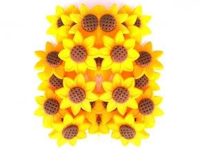 Jedlé květy z modelovací hmoty: SLUNEČNICE 20ks