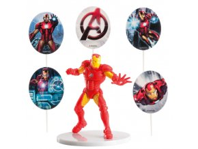 303004 KIT PVC CON PINCHOS IRON MAN PARA DECORAR TARTAS 4