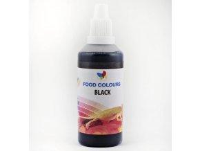 Airbrush barva tekutá 60ml Food Colours Black - černá