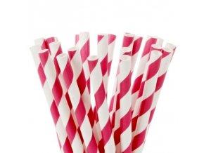 HoM Tyčky na Cake Pops - růžové pruhy - 20ks