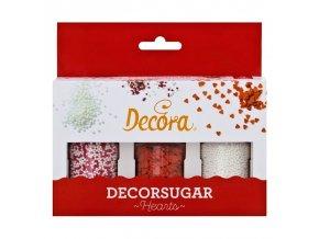 Decora - Cukrové perličky - červené - 3ks  - 85g