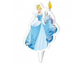 Dekora dortová svíčka - Cinderella - Popelka - 1ks