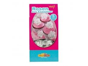 DecoCino  jedlý papír - růže bílé  8ks