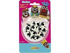 DecoCino cukrová dekorace - Oči s řasami - 25g