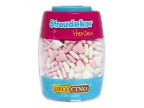 DecoCino cukrová dekorace - srdíčka - 70g