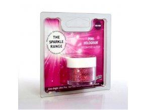 Dekorativní třpyty Rainbow Sparkles Hologram- Pink