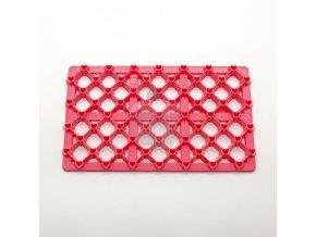 Růžová otiskovací podložka - čtvereček malý + srdíčko