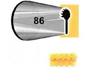 JEM trezírovací špička - řezaná - volánková č.86