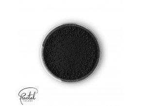 Jedlá prachová barva Fractal - Black, Fekete (1,5 g)