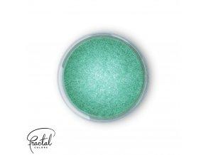 Jedlá prachová perleťová barva Fractal - Aurora Green, Zöld sarki fény (2 g)